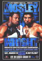 Winky Wright vs Shane Mosley - 11 x 17 Boxing Promo Poster - Style B