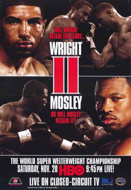 Winky Wright vs Shane Mosley - 11 x 17 Boxing Promo Poster - Style A