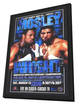 Winky Wright vs Shane Mosley - 11 x 17 Boxing Promo Poster - Style B - in Deluxe Wood Frame