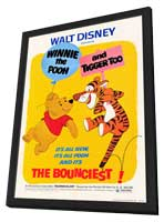 Winnie the Pooh and Tigger Too - 27 x 40 Movie Poster - Style A - in Deluxe Wood Frame