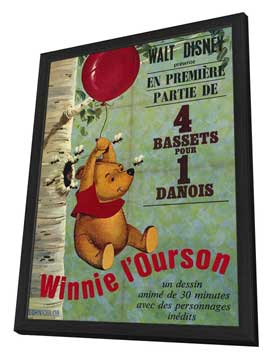 - 11 x 17 Movie Poster - French Style A - in Deluxe Wood Frame