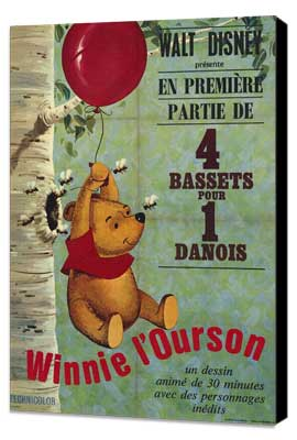 - 11 x 17 Movie Poster - French Style A - Museum Wrapped Canvas