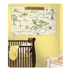 Winnie the Pooh - 100 Acre Wood Peel and Stick Map