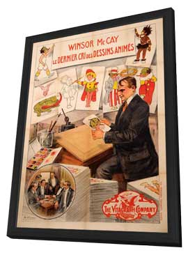 Winsor McCay, the Famous Cartoonist of the N.Y. Herald and His Moving Comics - 11 x 17 Movie Poster - French Style A - in Deluxe Wood Frame