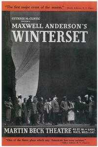 Winterset (Broadway) - 14 x 22 Poster - Style A