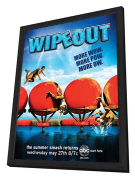 Wipeout (TV) - 11 x 17 TV Poster - Style A - in Deluxe Wood Frame