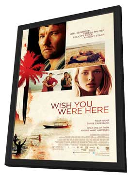 Wish You Were Here - 11 x 17 Movie Poster - Style A - in Deluxe Wood Frame