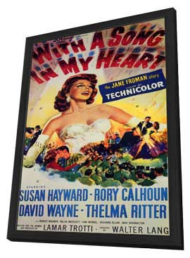 With a Song in My Heart - 11 x 17 Movie Poster - Style A - in Deluxe Wood Frame