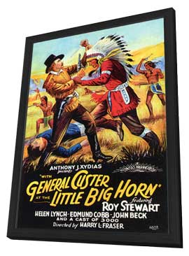 With General Custer at Little Big Horn - 11 x 17 Movie Poster - Style A - in Deluxe Wood Frame