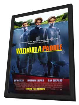 Without a Paddle - 27 x 40 Movie Poster - Style A - in Deluxe Wood Frame