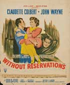 Without Reservations - 11 x 17 Movie Poster - Style D