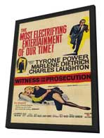 Witness for the Prosecution - 11 x 17 Movie Poster - Style B - in Deluxe Wood Frame