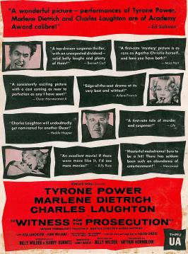 Witness for the Prosecution - 11 x 17 Movie Poster - Style D