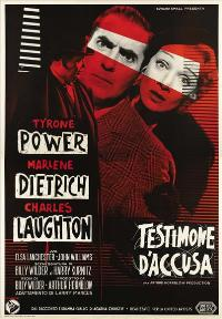 Witness for the Prosecution - 27 x 40 Movie Poster - Italian Style A