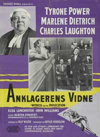 Witness for the Prosecution - 11 x 17 Movie Poster - Danish Style A