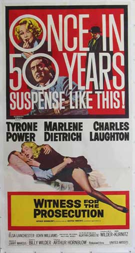 Witness for the Prosecution - 20 x 40 Movie Poster - Style A