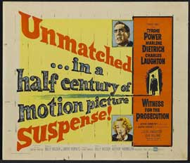 Witness for the Prosecution - 22 x 28 Movie Poster - Half Sheet Style A