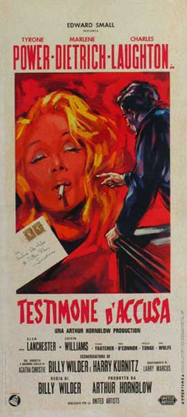 Witness for the Prosecution - 13 x 28 Movie Poster - Italian Style A