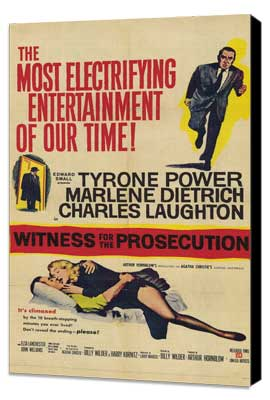 Witness for the Prosecution - 11 x 17 Movie Poster - Style B - Museum Wrapped Canvas
