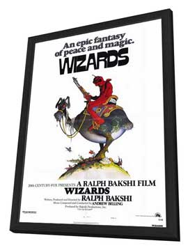 Wizards - 27 x 40 Movie Poster - Style A - in Deluxe Wood Frame