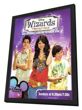 Wizards of Waverly Place (TV) - 11 x 17 Movie Poster - Style B - in Deluxe Wood Frame