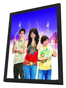 Wizards of Waverly Place (TV) - 27 x 40 Movie Poster - Style E - in Deluxe Wood Frame