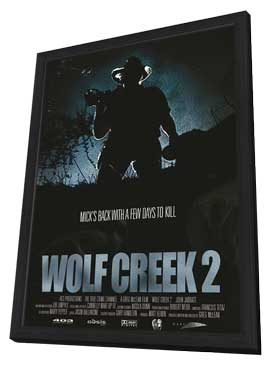 Wolf Creek 2 - 27 x 40 Movie Poster - Australian Style A - in Deluxe Wood Frame