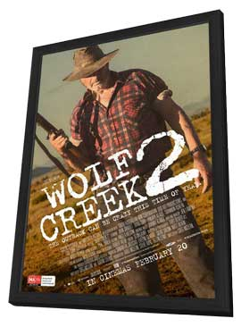 Wolf Creek 2 - 27 x 40 Movie Poster - Australian Style B - in Deluxe Wood Frame