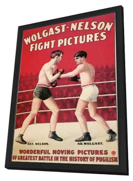 Wolgast-Nelson Fight Pictures - 11 x 17 Movie Poster - Style A - in Deluxe Wood Frame