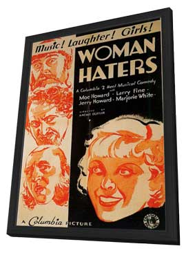 Woman Haters - 11 x 17 Movie Poster - Style A - in Deluxe Wood Frame