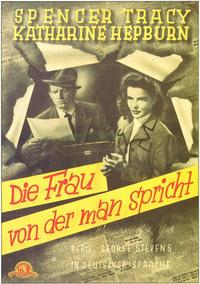 Woman of the Year - 11 x 17 Movie Poster - German Style A