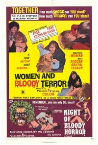 Women and Bloody Terror / Night of Bloody Horror - 11 x 17 Movie Poster - Style A