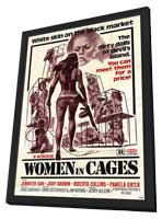 Women in Cages - 11 x 17 Movie Poster - Style A - in Deluxe Wood Frame