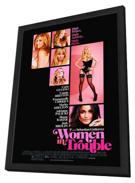 Women in Trouble - 11 x 17 Movie Poster - Style E - in Deluxe Wood Frame