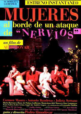 Women on the Verge of a Nervous Breakdown - 27 x 40 Movie Poster - Spanish Style A