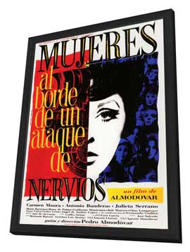 Women on the Verge of a Nervous Breakdown - 27 x 40 Movie Poster - Spanish Style C - in Deluxe Wood Frame