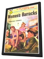Women's Barracks - 11 x 17 Retro Book Cover Poster - in Deluxe Wood Frame