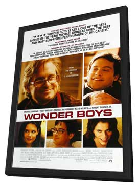 Wonder Boys - 27 x 40 Movie Poster - Style C - in Deluxe Wood Frame