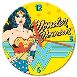 Wonder Woman - 13 1/2-Inch Cordless Wood Wall Clock