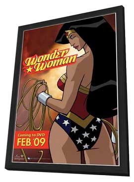 Wonder Woman - 27 x 40 Movie Poster - Style A - in Deluxe Wood Frame