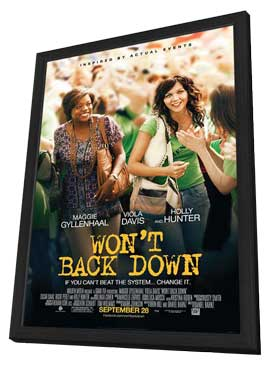 Won't Back Down - 11 x 17 Movie Poster - Style A - in Deluxe Wood Frame