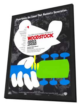 Woodstock - 11 x 17 Movie Poster - Style E - in Deluxe Wood Frame