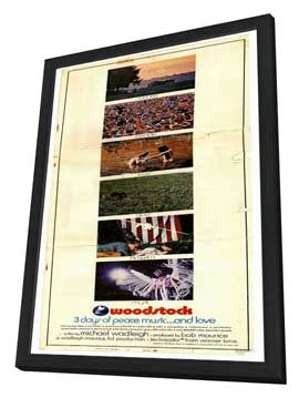 Woodstock - 14 x 36 Movie Poster - Insert Style A - in Deluxe Wood Frame