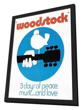 Woodstock - 27 x 40 Movie Poster - Style D - in Deluxe Wood Frame