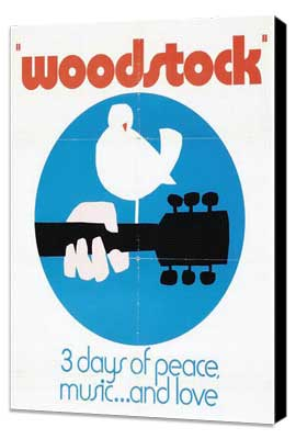 Woodstock - 27 x 40 Movie Poster - Style D - Museum Wrapped Canvas