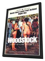 Woodstock - 11 x 17 Retro Book Cover Poster - in Deluxe Wood Frame