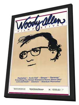 Woody Allen Film Festival - 11 x 17 Movie Poster - Style A - in Deluxe Wood Frame