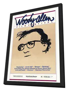 Woody Allen Film Festival - 27 x 40 Movie Poster - Style A - in Deluxe Wood Frame
