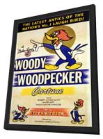 Woody Woodpecker - 11 x 17 Movie Poster - Style A - in Deluxe Wood Frame