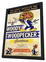Woody Woodpecker - 27 x 40 Movie Poster - Style A - in Deluxe Wood Frame